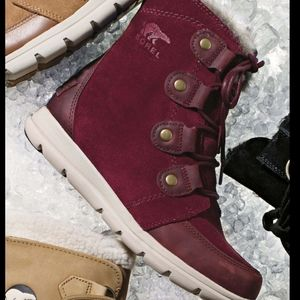 Sorel Explorer Joan boots in rich wine